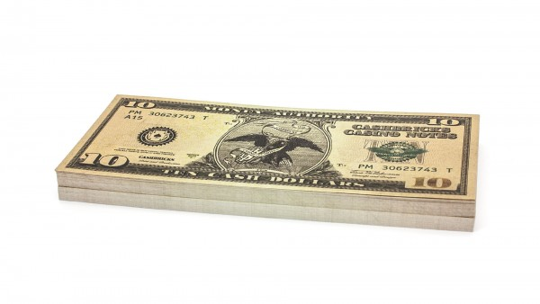 Cashbricks® play money - $10 banknotes