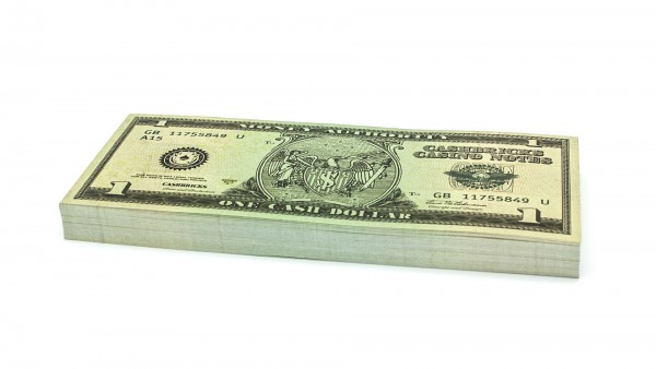 Cashbricks® play money - $1 banknotes
