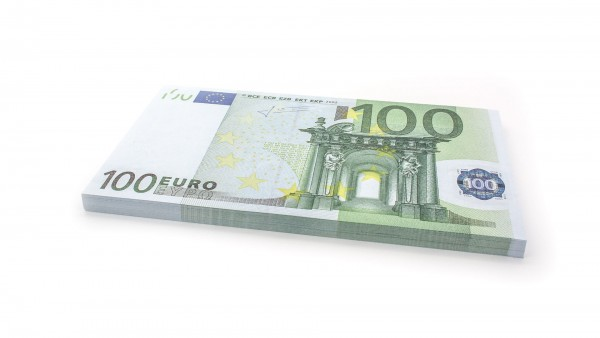 Cashbricks® play money - €100 banknotes (125% size)