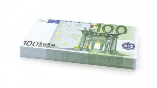 Cashbricks® play money - €100 banknotes (75% size)