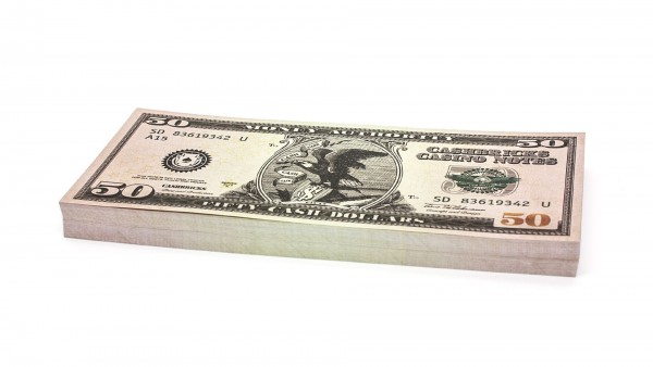 Cashbricks® play money - $50 banknotes