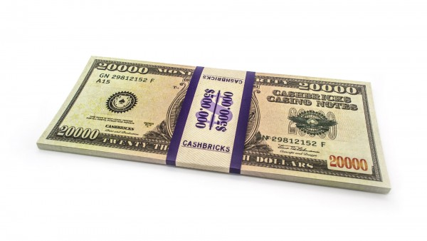 Cashbricks® Play money dollar bunches - 20,000$ banknotes