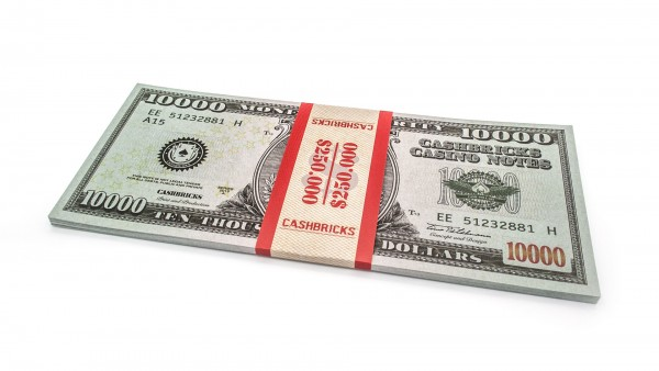 Cashbricks® Play money dollar bunches - 10,000$ banknotes