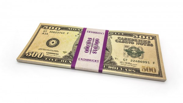 Cashbricks® Play money dollar bunches - 500$ banknotes
