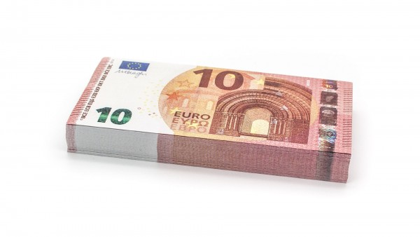 Cashbricks® play money - €10 banknotes (75% size)