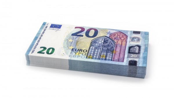 Cashbricks® play money - €20 (new 2015) banknotes (75% size)