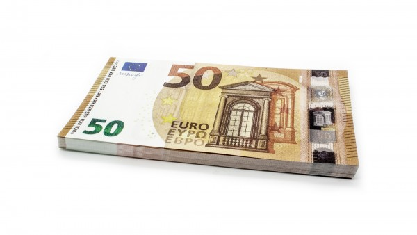 Cashbricks® play money - €50 banknotes (125% size)