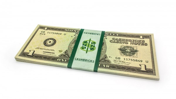 Cashbricks® Play money dollar bunches - 1$ banknotes