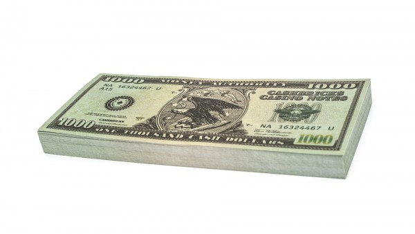 Cashbricks® play money - $1.000 banknotes