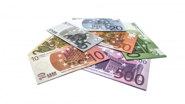 Cashbricks® play money - euro set banknotes