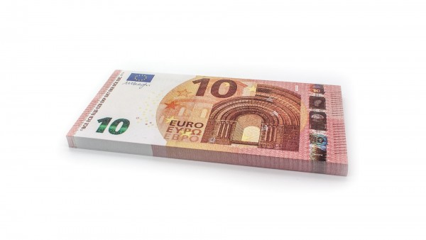 Cashbricks® play money - €10 banknotes (125% size)