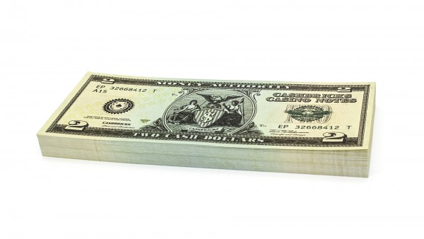 Cashbricks® play money - $2 banknotes